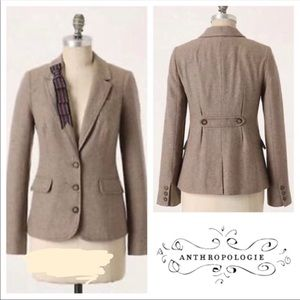 Anthro || Cartonnier brown blazer size 6